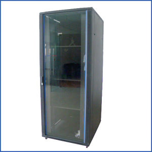 Network Cabinet--Tempered Glass Front Door and Perforated Back Door (eT6642)