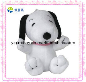 Cuddly Small Size White Dog Cheap Plush Promotion Toy pictures & photos