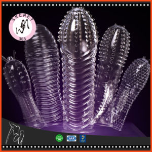 Adult Toys For Men Tpe Reusable Condoms With Big Dotted Spike Erotic Penis Sleeve Extendtion Ejaculation Delay Dick Cockring Beauty & Health