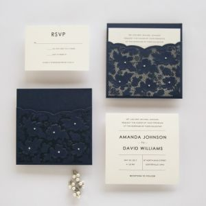 china free design and free print tri fold elegant laser cut wedding
