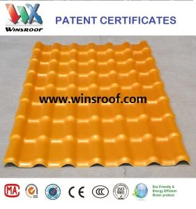 Wins ASA/PMMA Synthetic Resin Roof Tile Green Color pictures & photos