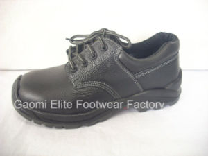 Black Genuine Leather Light Weight Safety Shoe