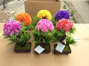 china artificial plastic plants and flowers of small bonsai plants