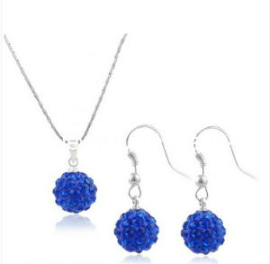 ed5a4555b4762 Summer Fashion Jewelry/ 2013 Crystal Rhinestone Beads Pendant Royal Blue  Shamballa Beads Necklace Earrings Set for Women and Teenager (PN-097)