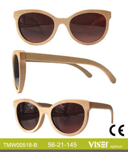 Fashion Wooden Sunglasees with High Quality (518-A) pictures & photos
