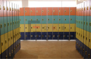 2015 Solid Phenolic HPL Lockers Compact Laminate Cabinet pictures & photos