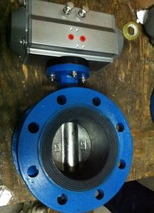 Pneumatic Actuator Flanged Butterfly Valve with EPDM Seat pictures & photos