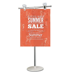 Supermarket Equipment Metal Tabletop Sign Holder for Goods Promotion Display