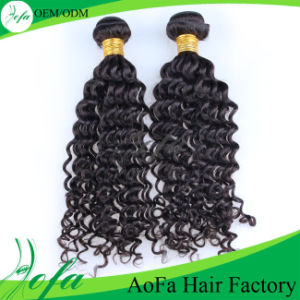 100% Raw Wholesale Unprocessed Deep Wave Human Hair Extension pictures & photos