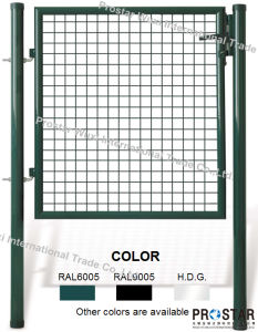 Fence Gate, Iron Gate, Garden Gate, Round Post Gate, Single Wing Gate pictures & photos