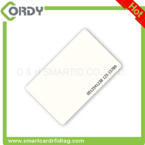 Thermal printing glossy finish 125kHz EM4200 PVC card blank white