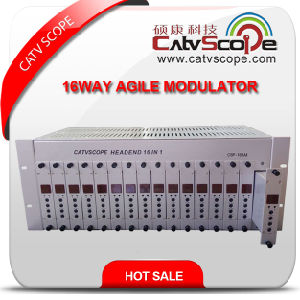 Csp-16am CATV 16way 4u Adjacent Agile Modulator