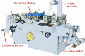 Mq-320 Automatic Label Die Cutting Machine Half Cutting with Ce pictures & photos