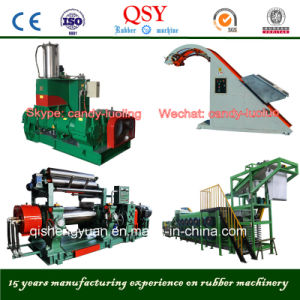 Rubber Kneader & Bucket Elevator & Open Mixing Mill & Batch off Cooling Line for Rubber Sheet Line pictures & photos