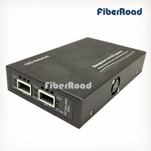 Long Haul Standalone Web-Smart 10g Fiber Media Converter XFP to XFP with 3r Repeater