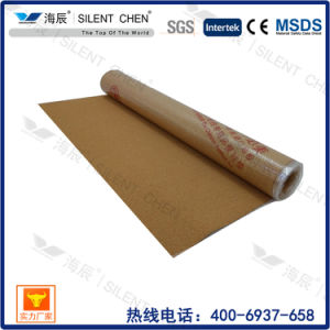 Cork Underlayment with PE Film for Hardwood Flooring, Moistureproof Underlayment