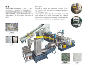 PP/PE Film Double Stage Recycling Granulating Machine