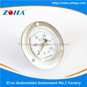 Back Mounting Brass Connection Pressure Instrument with Flange pictures & photos