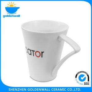 350ml Ceramic Tea Mug with Triangle Leg Handle pictures & photos