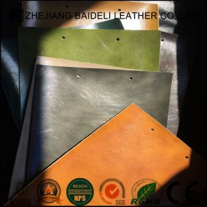 Synthetic Microfiber Leather Backing Color Same as Surface for Car Seat Covered pictures & photos