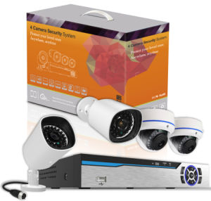 4CH PLC Security System Power Line Communication CCTV Security Camera