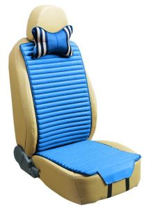 Flax and Velvet Car Seat Cushion Double Sides Use -Blue