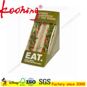 Custom Logo Packaging Luxury Sandwiches Paper Box with Clear Window pictures & photos