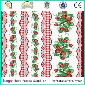 Textile 300d Hot Sale Cheap Mini Matt Printed Fabric for Table Cloth pictures & photos