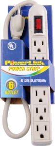 USA Style 6 Outlets Power Strip with Customized Feet Power Cord pictures & photos