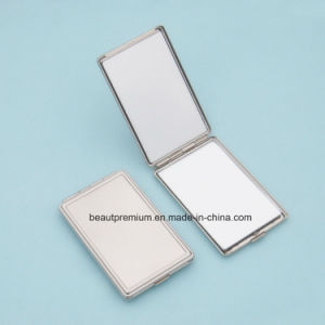 Portable Double Side Rectangle Shape Metal Makeup Mirror BPS0217