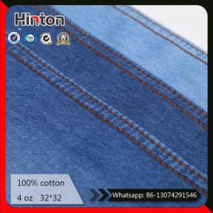 China Hot Sale Manufacturer 32*32 Thin 4oz 100% Cotton Denim Fabric pictures & photos
