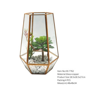 China Air Plant Glass Geometric Terrarium Factory Direct Sell