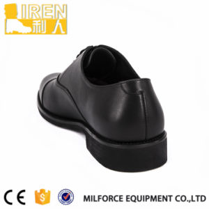 Black Gueuine Cow Leather PU Leather Lining Army Footwear Military Office Shoes pictures & photos