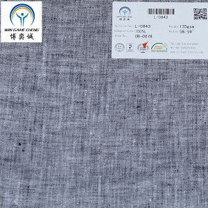 21*21 Yarn Dyed Linen Fabric pictures & photos