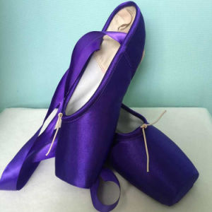 Colorized/Purple Satin Point Shoes for Women