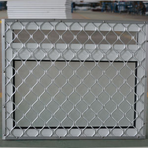 Powder Coated Andoized Surfacement Aluminum Window with Stainless Steel Buglar Net K12004