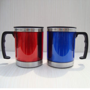 Plastic Coffee Cup Tea Beer Mugs with Handles pictures & photos