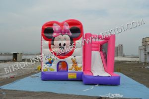 Inflatable Combo with Slide, Pink Combo for Kids, Party Jumper, Bouncer B2195 pictures & photos