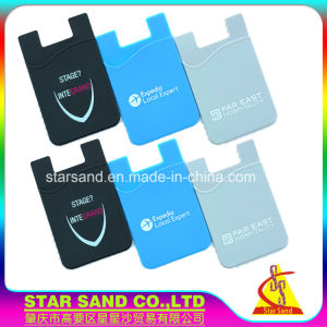 Silicone Car Cellphone Business Card Holder Anti Slip Mount Phone Wallet