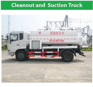 White Cleanout and Suction Truck