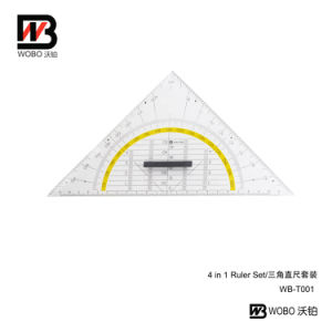 Multifunctional Protractor and Triangular Ruler with Handle for Office Stationery