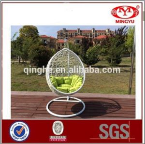 China Iron Frame Hanging Egg Chair Indoor Rattan Hammock Wicker