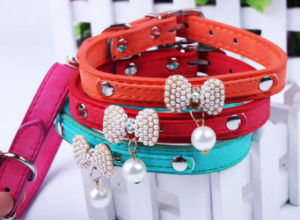 Colorful Design Flocking Pet Collar pictures & photos