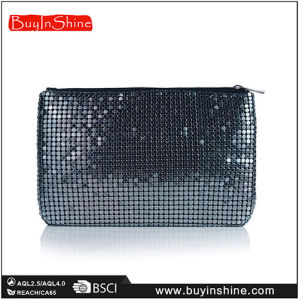 Gunmetal Lady Evening Party Chainmail Bag