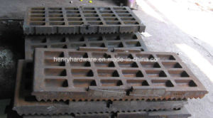 OEM Jaw Plate Casting, High Manganese Steel Casting