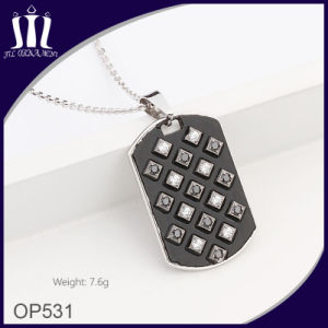 Black Oil Enamel 316L Stainless Steel Tag Pendant pictures & photos
