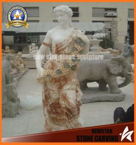 Grape Surround Body Marble Stone Carving Figure (NS-11F04) pictures & photos