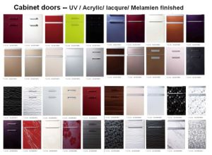 Ordinaire High Glossy Wooden Acrylic Kitchen Cabinet Doors With Edge Banding (ZHUV)