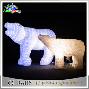 outdoorindoor acrylic led polar bear christmas decorative light - Outdoor Polar Bear Christmas Decorations