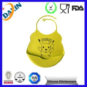 FDA Approved Washable Silicone Cute Factory Wholesale Baby Bib pictures & photos
